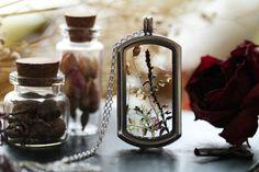 Dandelion seed locket dandelion wish necklace by RubyRobinBoutique