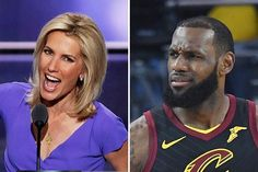 "Laura Ingraham says #LeBronJames should ""shut up and dribble"" and leave political comments to people who didn't leave high school a year early.  Conservative Fox News host Laura Ingraham is taking heat Friday after calling out LeBron James and Kevin Durant for some anti-Trump remarks the"