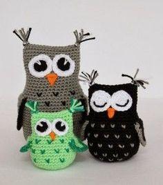 Crochet Owls, Crochet Art, Crochet Poncho, Amigurumi Patterns, Crochet Patterns, Crochet Collar, Origami, Free Pattern, Dolls