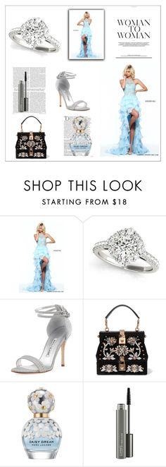 """High Low Sherri Hill 51050 Ruffled Chiffon Prom Dress 2017"" by susannelsone ❤ liked on Polyvore featuring Manolo Blahnik, Dolce&Gabbana, Balmain, Marc Jacobs and MAC Cosmetics"