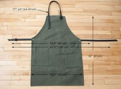 Canvas Apron with leather pocket black / Tablier en por NOIRnBLACK