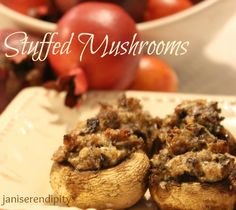 Game Day Stuffed Mushrooms from @JaniSerendipity -- YUM!!