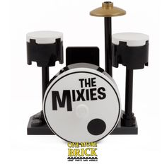 LEGO Drum Kit - Inc two Drums, Printed Bass Drum, Symbol & Seat. 'The Mixies' | eBay