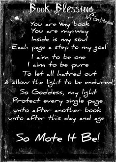 Book Blessing... is this for writing books, or for reading? No matter which, I like it anyway!!!