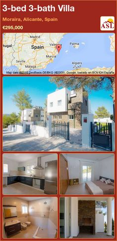 3-bed 3-bath Villa in Moraira, Alicante, Spain ►€295,000 #PropertyForSaleInSpain