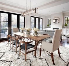Wonderful Ideas For Dining Room Lighting. Here are the Ideas For Dining Room Lighting. This post about Ideas For Dining Room Lighting was posted under the Dining Room category by our team at April 2019 at pm. Hope you enjoy it and don& forget . Dining Room Design, Dining Room Furniture, Dining Area, Room Chairs, Dining Living Room Combo, Furniture Decor, Wooden Furniture, Dining Chairs, Apartment Furniture