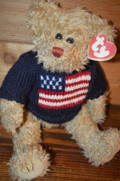 TY Beanie  Let freedom Ring  Bear  Ty e260f95e16e4