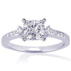 Princess Cut Wedding Rings | 20 Ct Princess Cut Diamond Engagement Ring  Buy Jewelry Diamond ...