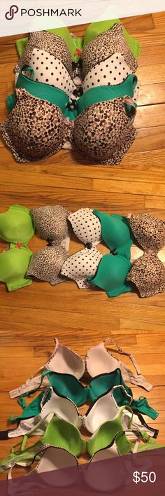 Victoria Secret Body By Victoria Lot (5) Size 36D Lot of 5 previously loved Body By Victoria Bras. 4 Lined Perfect Coverage and 1 Lined Demi. Some signs of lite use (see photo) but in nice condition with lots of wear left in them. Retail for $50 each. Victoria's Secret Intimates & Sleepwear Bras