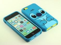 for Apple iPhone 5C 5 C Cute Stitch Dual Front & Back Case cover defender Pouch