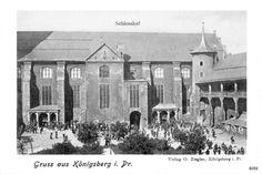 Königsberg, Schloßhof Tytuł (polski) Królewiec, dziedziniec zamkowy Opis Schloßhof  1889 - 1914
