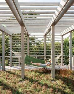 Fishers Island prefab exterior outdoor garden patio