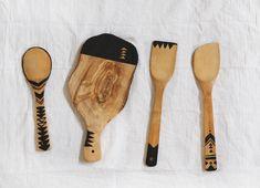 Geo painted kitchen tools