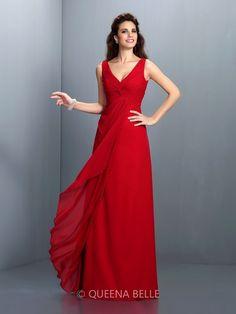 A-Line/Princess Straps Sleeveless Pleats Floor-Length Chiffon Dresses