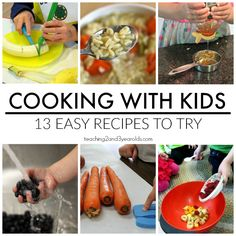 Cooking with Kids Recipes is part of Cooking with toddlers - Kids love to help in the kitchen! Here is a collection of easy recipes they can be part of Cooking With Kids Easy, Kids Cooking Recipes, Baking With Kids, Cooking Tips, Easy Recipes, Cooking Bacon, Vegetarian Cooking, Cooking Light, Cooking Lamb