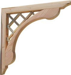 Delightful SamsGazebos Designer Outdoor Wood Corbels Brackets, 2 Pack, Lattice, 16 Inch