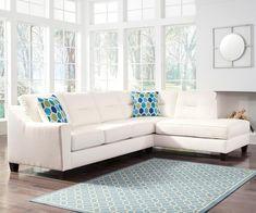 "Feilah Snow LAF Sofa Sectional: 116"" W x 38/85"" D x 38"" H- Rent: $150; Buy: $869"