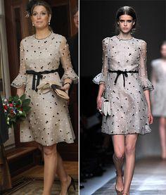 Máxima de Holanda luce un original diseño de Valentino, colección primavera/verano 2011