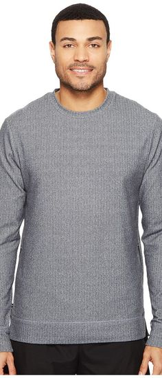 Onzie Crew Neck Pullover (Charcoal Herringbone) Men's Long Sleeve Pullover - Onzie, Crew Neck Pullover, 703-059, Apparel Top Long Sleeve Pullover, Long Sleeve Pullover, Top, Apparel, Clothes Clothing, Gift, - Street Fashion And Style Ideas
