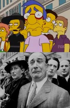 Just another reason why the Simpsons are so fucking badass. 12 famous photos recreated in the show.