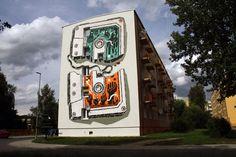 M-City. Jarocin (PL). Stencil History X. #streetart, #graffiti, #urban.