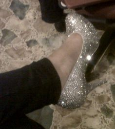 My DIY Bling Wedding Shoes (pics included) :  wedding bling crystals diy ivory shoes white Shoes Complete1