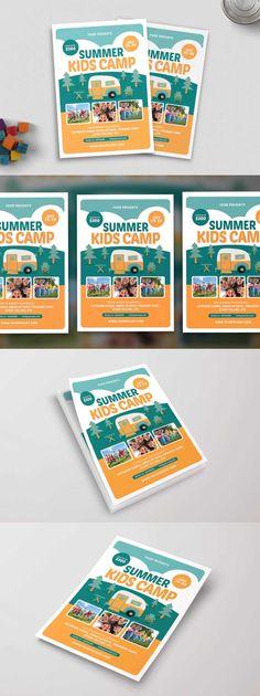Summer Music Festival Flyer Template PSD Flyer Design Templates - camp flyer template