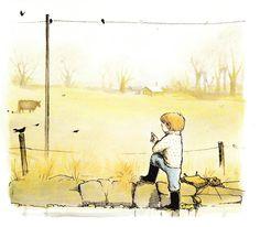 """The Winter Bear"" by Ruth Craft, illustrated by Erik Blegvad, 1976  (http://www.themarlowebookshelf.blogspot.ca/2013/01/the-winter-bear.html)"