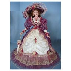 Amazon.com: 38 Inch Umbrella Dolls Porcelain Doll Victorian Style Purple: Everything Else