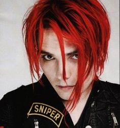 Image result for gerard way red hair< *feels ashamed because I've googled that multiple times*