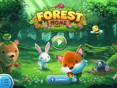 Forest Home | Splash Screen | UI, HUD, User Interface, Game Art, GUI, iOS, Apps, Games, Grahic Desgin, Puzzle Game, Maze Games, Brain Games | www.girlvsgui.com