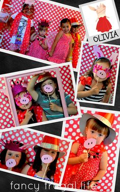 """Use for Peppa Pig noses! Photo 2 of Olivia the Pig in Red, Black, & White / Birthday """"Olivia The Pig"""" 5th Birthday Party Ideas, Pig Birthday, Pig Party, Baby Party, Aniversario Peppa Pig, Cumple Peppa Pig, Little Pigs, Decoration, Photo Booth"""