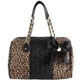 nice Betsey Johnson BJ25520 Be My Wonderful Satchel – Leopard