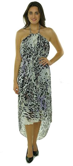 Marc New York by Andrew Marc Women's Print Chiffon Halter Dress * Tried it! Love it! Click the image. : Dresses