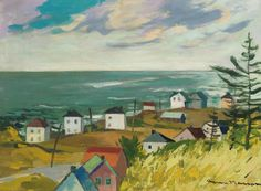 """Pointe Jaune, Gaspésie,"" Henri L Masson, 1977, oil on canvas, 18 x 24"", private collection."