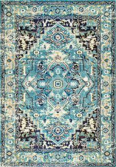 Bring a splash of vibrant and contrasting colors to your living space with the 100% polypropylene, machine-made bohemian rug that is available to you in a variety of sizes and another color. The intricate traditional pattern of this beautiful rug is sure to catch everyone's appreciation.
