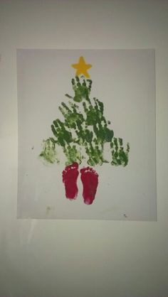 Christmas tree that I made with my 18 month old
