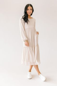 Modest Outfits, Cute Outfits, Sunday Outfits, Sweetheart Dress, Tiered Dress, Petite Size, Dress Up, Lovers, Plus Size