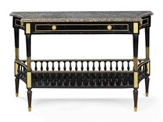A FRENCH ORMOLU-MOUNTED EBONISED CONSOLE TABLE | LATE 19TH CENTURY AND LATER | console table, Furniture & Lighting | Christie's