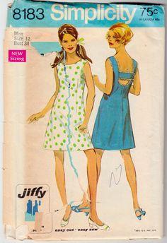 1960's Vintage Sewing Pattern Simplicity 8183 Ladies' by Mrsdepew