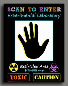 Science Scan to Enter Sign Printable  Super by ThatPartyChick, $7.00: