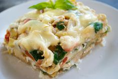 White Chicken and Veggie Lasagna  by The Double Dipped Life