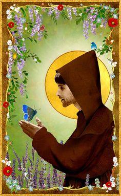 Saint Francis of Assisi Holy Card by pocketfullofmiracles on Etsy