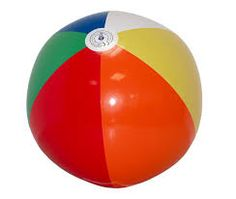 I remember having such fun with these colorful beach balls!