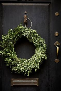 Black in holiday decor and more..Loving black..My Version of Black Friday! via Northern California Style