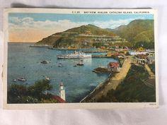 Vintage Avalon Bay Catalina Santa Catalina Island CA postcard marked 1925