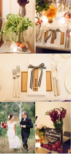 Cute table place cards