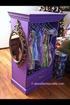 Set up a wardrobe and mirror for all of their dress up clothes.