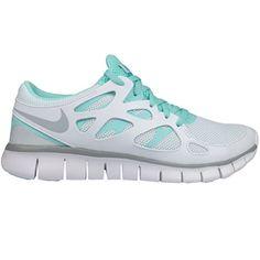 NIKE Wmns Nike Free Run 2, Damen Sportschuhe, Weiss (WHITE/Wolf Grey