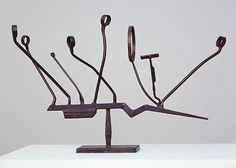 Agricola IX 1952 -- This David Smith sculpture is particularly interesting to me, as differing perspectives change the over-all look of the piece. Metal Art Sculpture, Steel Sculpture, Abstract Sculpture, Modern Sculpture, Alberto Giacometti, Kandinsky, David Smith Sculptor, Contemporary Artists, Modern Art